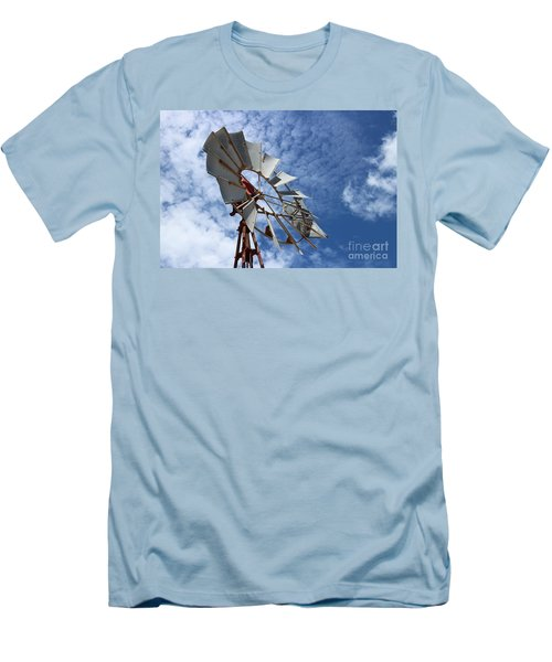 Men's T-Shirt (Slim Fit) featuring the photograph Catching The Breeze by Stephen Mitchell