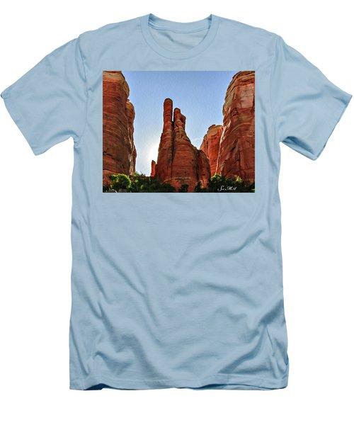Cathedral Rock 05-155 Men's T-Shirt (Slim Fit) by Scott McAllister