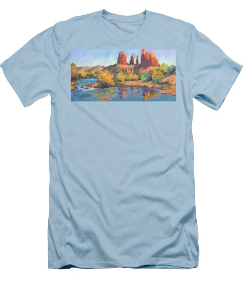 Moonrise Cathedral Rock Sedona Men's T-Shirt (Athletic Fit)