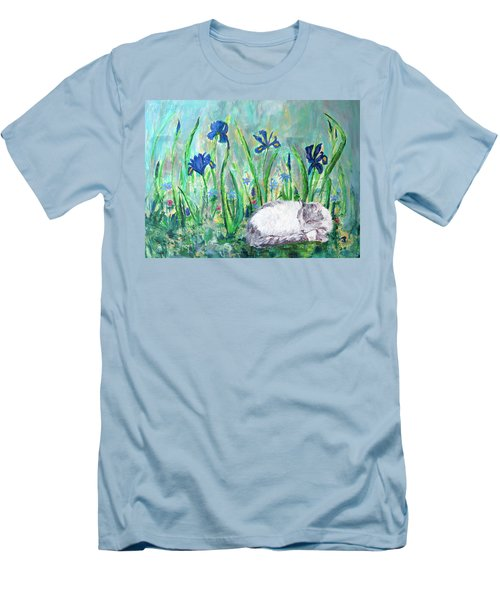 Catnap In The Garden Men's T-Shirt (Athletic Fit)