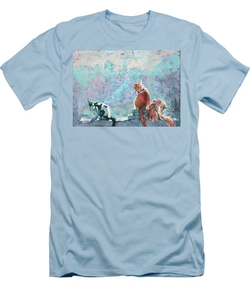 Cats. Washed By Rain Men's T-Shirt (Athletic Fit)