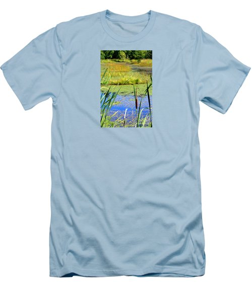 Men's T-Shirt (Slim Fit) featuring the photograph Cattail by Chris Anderson