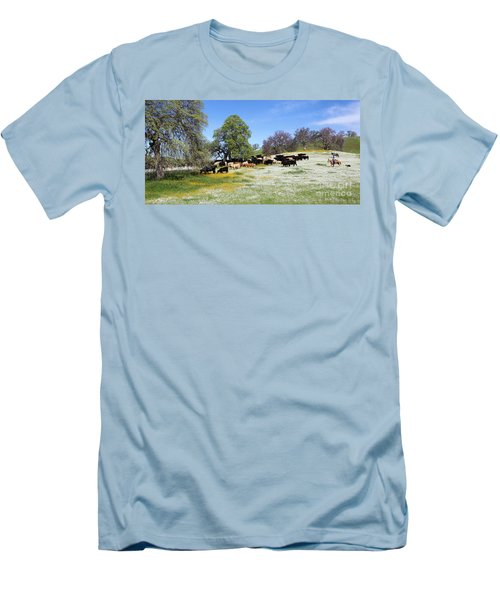 Cattle N Flowers Men's T-Shirt (Slim Fit)