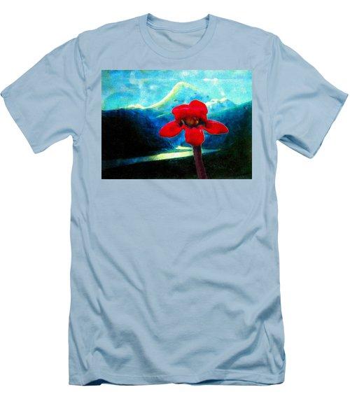 Caucasus Love Flower II Men's T-Shirt (Slim Fit) by Anastasia Savage Ealy