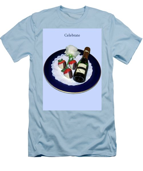 Men's T-Shirt (Slim Fit) featuring the photograph Celebrate  by Sally Weigand
