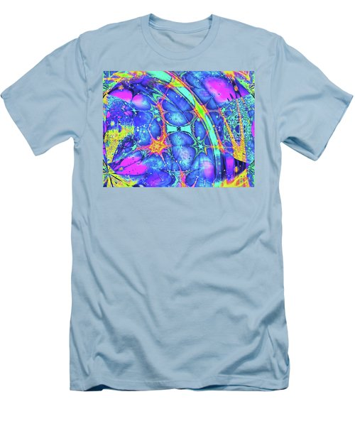 Men's T-Shirt (Athletic Fit) featuring the digital art Celestial Burst by Wendy J St Christopher