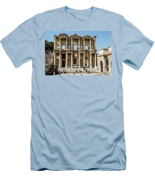 Celsus Library Men's T-Shirt (Slim Fit) by Kathy McClure