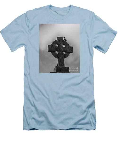 Celtic Cross #2 - Scotland Men's T-Shirt (Slim Fit) by Amy Fearn