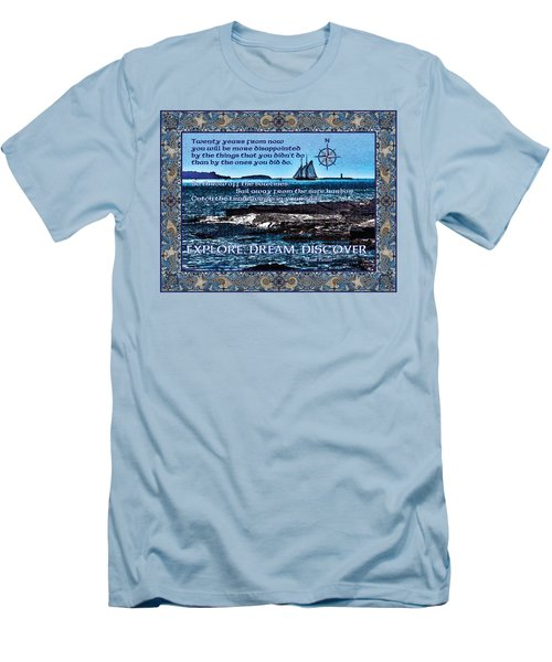 Celtic Explorer - Bluenose II In Halifax Harbour Men's T-Shirt (Athletic Fit)