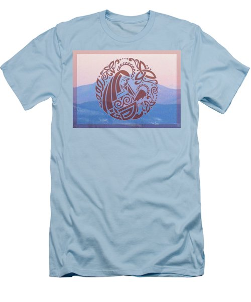 Celtic Madonna Over A Mountain Men's T-Shirt (Athletic Fit)