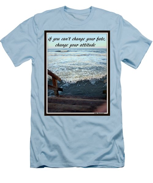 Change Your Attitude Men's T-Shirt (Slim Fit) by Irma BACKELANT GALLERIES