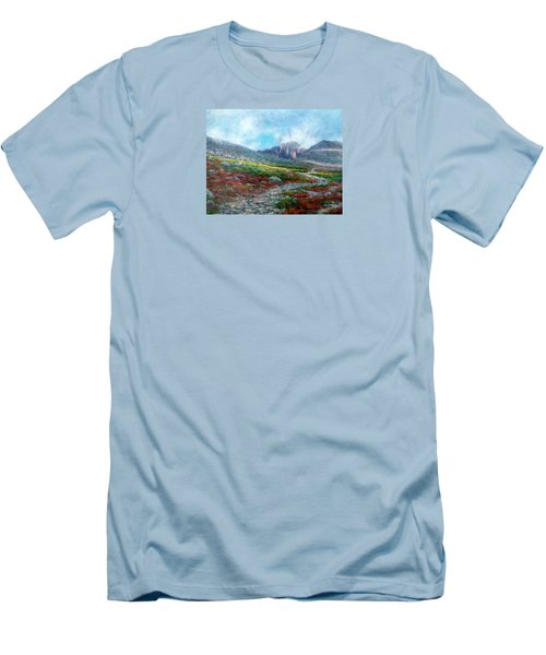 Chasm Lake Trail Men's T-Shirt (Slim Fit) by Jill Musser