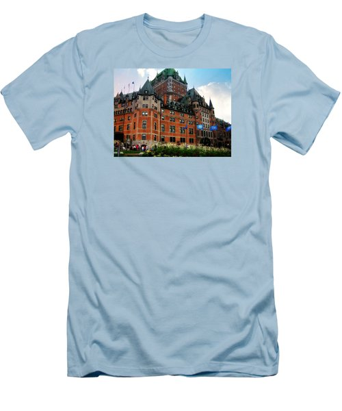 Men's T-Shirt (Slim Fit) featuring the photograph Chateau Frontenac by Robin Regan