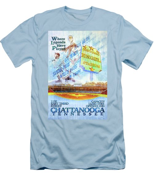Chattanooga Historic Baseball Poster Men's T-Shirt (Slim Fit) by Steven Llorca