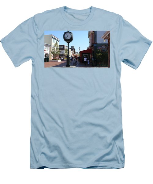Checking Out The Shops In Cape May Men's T-Shirt (Slim Fit) by Rod Jellison