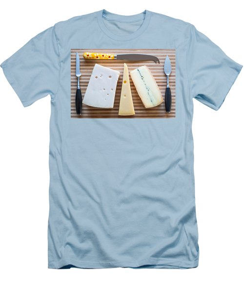 Men's T-Shirt (Slim Fit) featuring the photograph Cheese Board by Ari Salmela