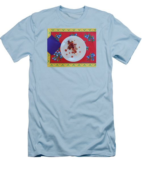 Cheese Cake With Cherries Men's T-Shirt (Slim Fit) by Jana Russon