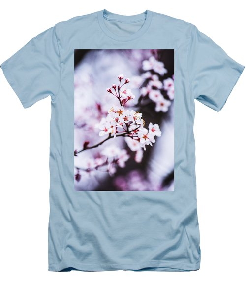 Men's T-Shirt (Slim Fit) featuring the photograph Cherry Blossoms by Parker Cunningham