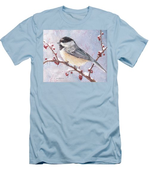 Chickadee Dee Dee Men's T-Shirt (Slim Fit) by Shana Rowe Jackson