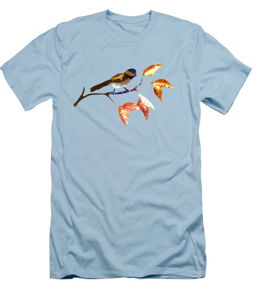 Chickadee Men's T-Shirt (Slim Fit) by Troy Rider