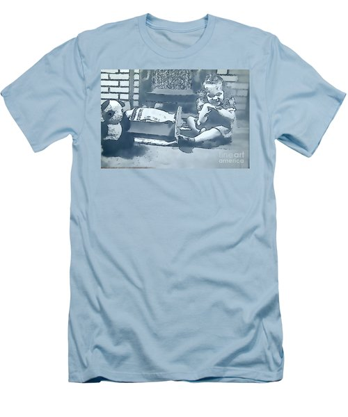 Men's T-Shirt (Slim Fit) featuring the photograph Childhood Memories by Linda Phelps