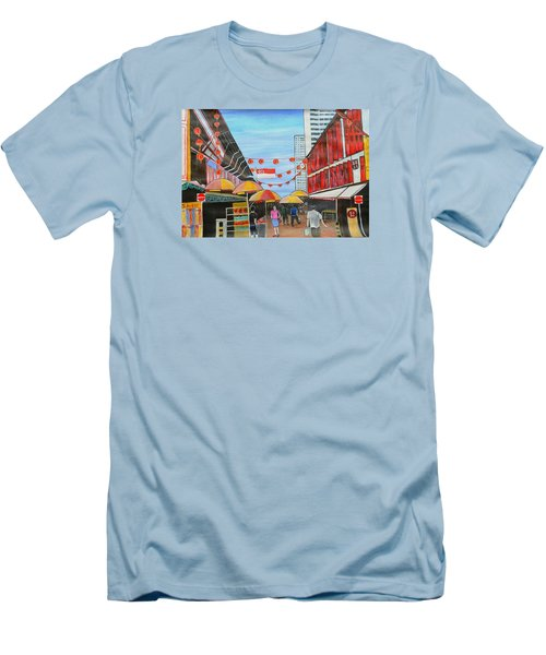 China Town Singaporesg50 Men's T-Shirt (Athletic Fit)