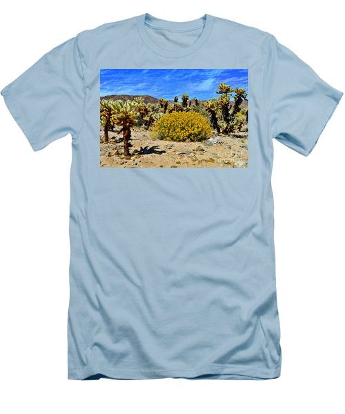 Cholla Garden Of Joshua Tree National Park Men's T-Shirt (Slim Fit) by Glenn McCarthy Art and Photography