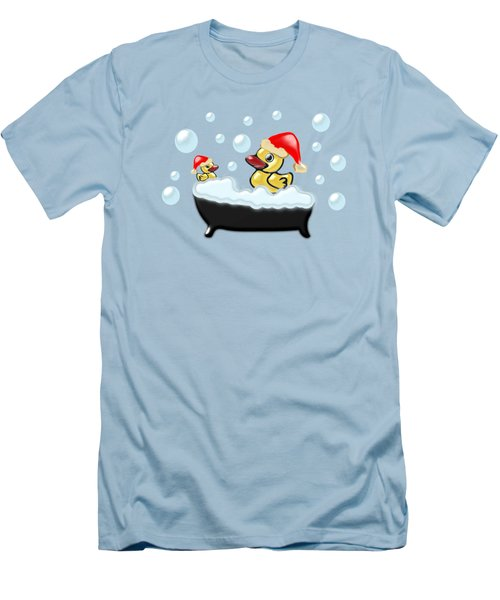Christmas Ducks Men's T-Shirt (Athletic Fit)