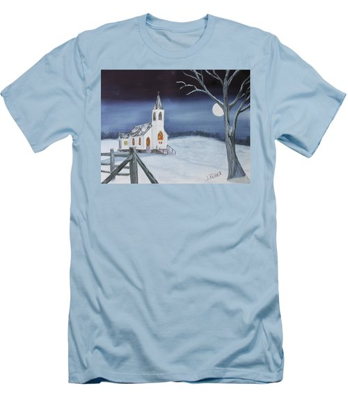 Christmas Eve Men's T-Shirt (Slim Fit) by Jack G Brauer