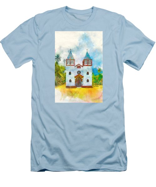 Church Of The Holy Family Men's T-Shirt (Slim Fit) by Greg Collins