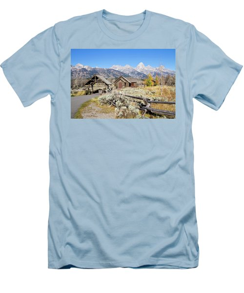 Church Of The Transfiguration Men's T-Shirt (Slim Fit) by Shirley Mitchell