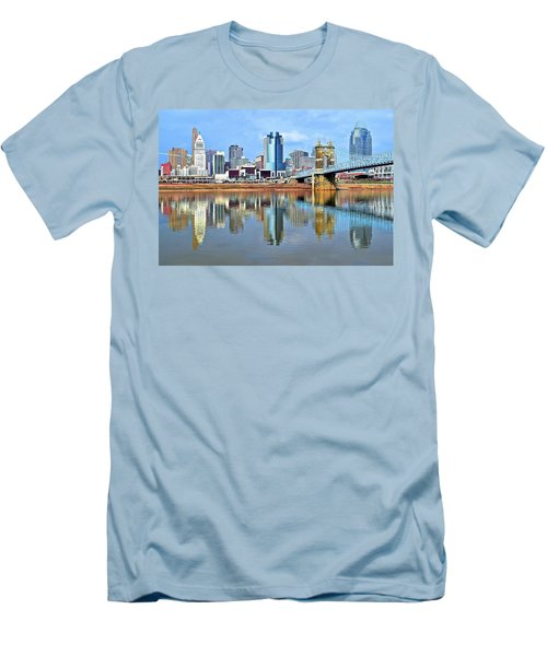 Cincinnati Ohio Times Two Men's T-Shirt (Slim Fit)