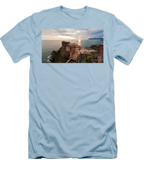 Cinque Terre Tranquility Men's T-Shirt (Slim Fit) by Mike Reid