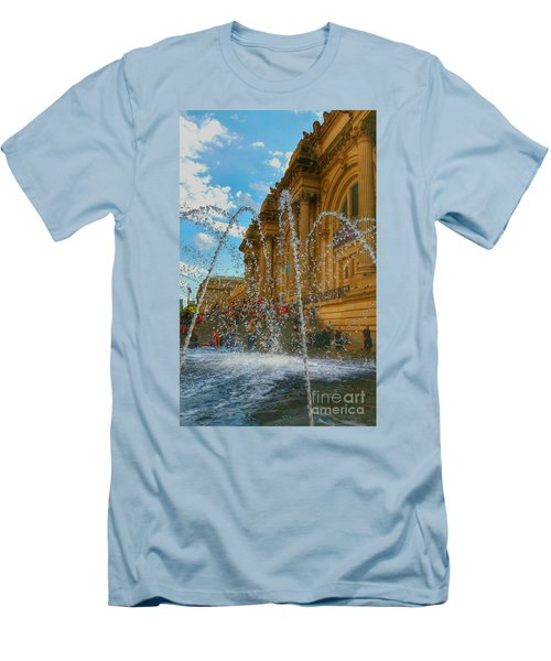 Men's T-Shirt (Slim Fit) featuring the photograph City Fountain  by Raymond Earley