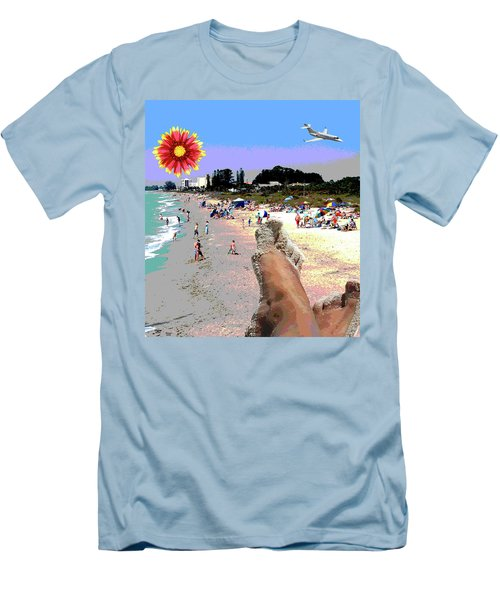 City On The Gluf Men's T-Shirt (Slim Fit) by Charles Shoup