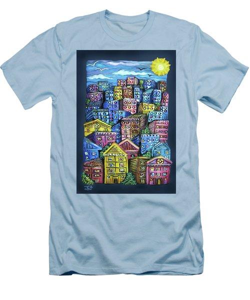 Cityscape Sculpture Men's T-Shirt (Athletic Fit)