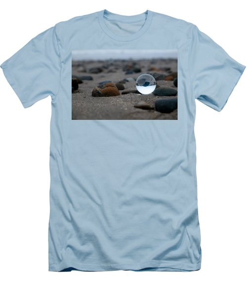Men's T-Shirt (Athletic Fit) featuring the photograph Clear Rock by Lora Lee Chapman