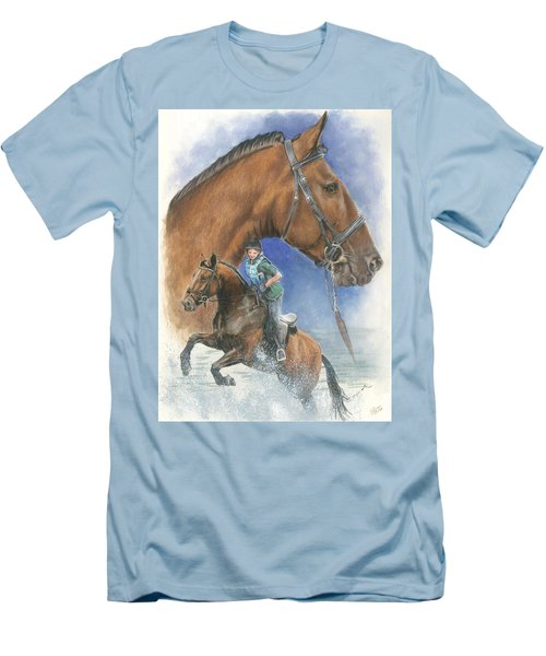 Men's T-Shirt (Slim Fit) featuring the painting Cleveland Bay by Barbara Keith
