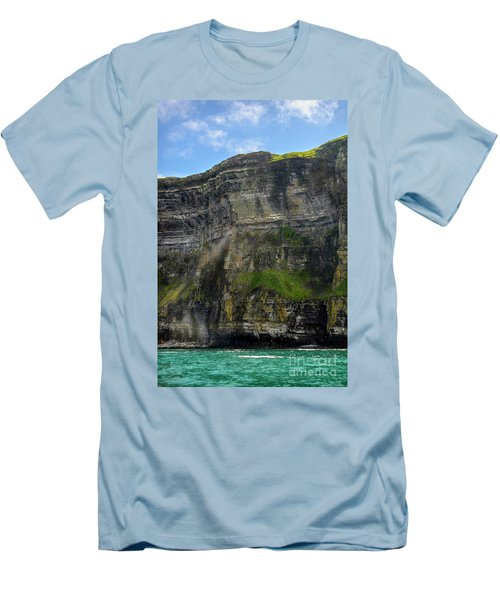 Men's T-Shirt (Slim Fit) featuring the photograph Cliffs Of Moher From The Sea Close Up by RicardMN Photography