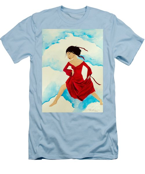 Cloud Dancing Of The Sky Warrior Men's T-Shirt (Athletic Fit)