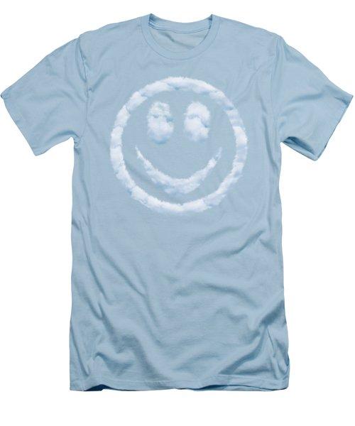 Cloud Smiley Men's T-Shirt (Slim Fit) by Matt Malloy