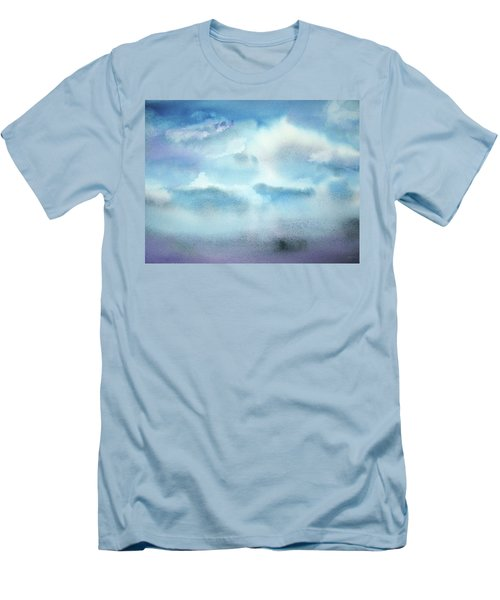 Men's T-Shirt (Slim Fit) featuring the painting Cloudscape by Ellen Levinson