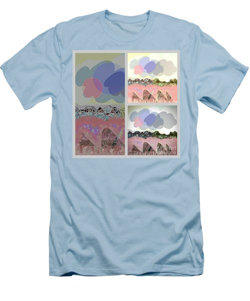 Men's T-Shirt (Athletic Fit) featuring the mixed media Cloudy by Ann Calvo