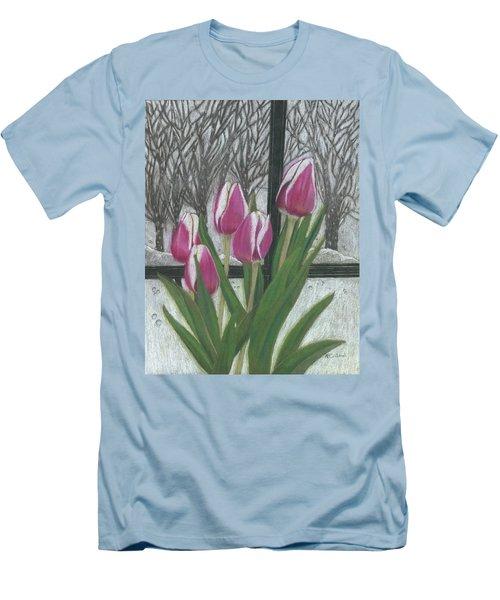 C'mon Spring Men's T-Shirt (Slim Fit) by Arlene Crafton