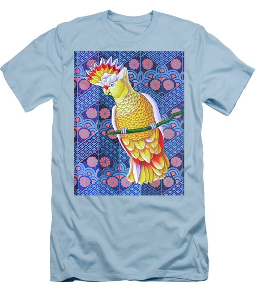 Cockatoo Men's T-Shirt (Slim Fit) by Jane Tattersfield