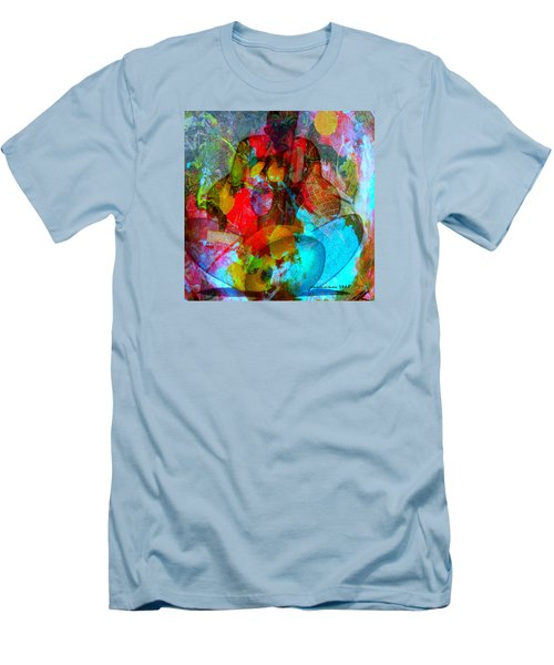 Men's T-Shirt (Slim Fit) featuring the mixed media Cocktail by Fania Simon