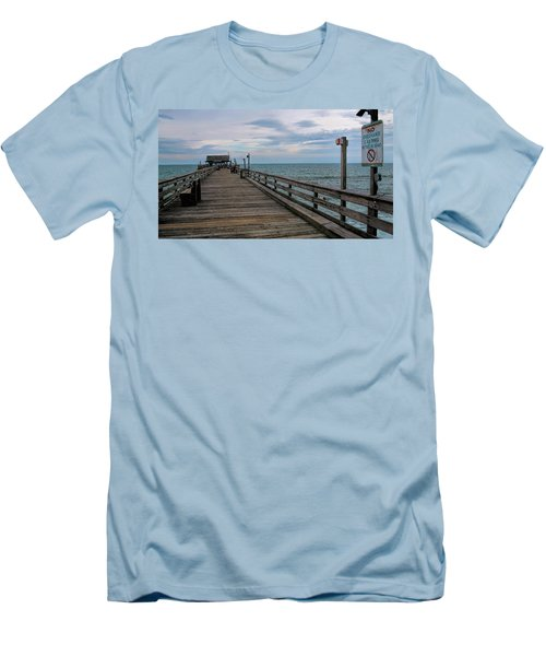 Cocoa Beach  Men's T-Shirt (Slim Fit) by Pat Cook