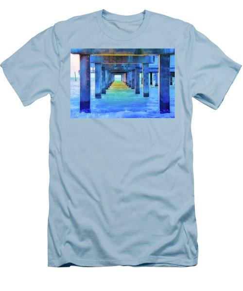 Cocoa Pier Men's T-Shirt (Athletic Fit)