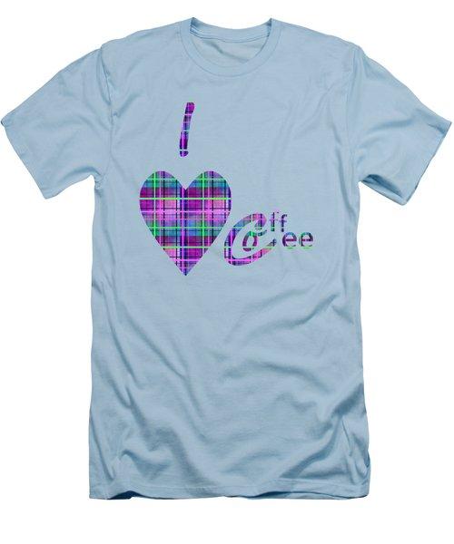 Coffee In Plaid Men's T-Shirt (Slim Fit) by Kathleen Sartoris