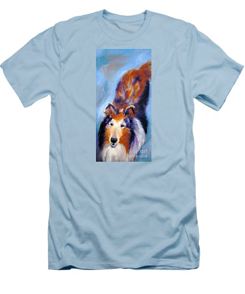 Collie Sable Rough 1 Men's T-Shirt (Athletic Fit)